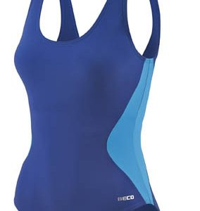 BECO badpak, C-cup, body shaping, borst support, donker blauw/petrol, maat 36