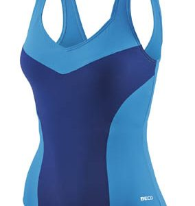 BECO badpak, C-cup, body shaping, borst support, donker blauw/petrol, maat 48