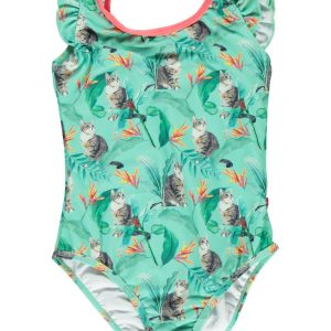 Someone! Meisjes Badpak - Maat 104 - All Over Print - Polyester/elasthan
